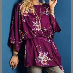 Purple Tunic Top Suzanne Betro